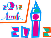 3 2012 gier ilustracj London set Obrazy Royalty Free