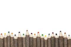 3支多色铅笔 库存照片