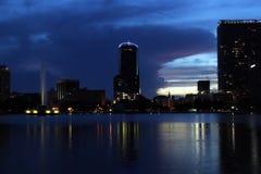 街市奥兰多,佛罗里达,黄昏的(3) 库存照片