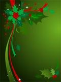 3个背景圣诞节霍莉 库存照片