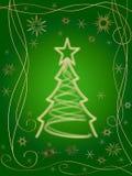 3 3d christmas golden tree Στοκ Εικόνες