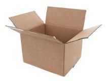 3 4个配件箱纸板开放视图 库存照片