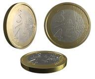 3 4欧元 免版税库存照片