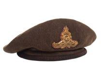 3 4顶贝雷帽加拿大ii战士查阅战争世界 库存照片