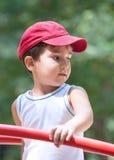 3-4年男孩的纵向 免版税库存照片