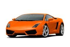 3/4 Ansicht von orange supercar Lizenzfreie Stockfotografie