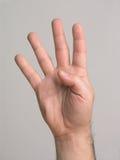 3 4 fingrar Arkivfoto