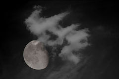 3/4 full moon Stock Image