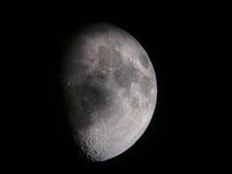 3/4 luna Fotografía de archivo