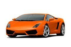 3/4 mening van oranje supercar Royalty-vrije Stock Fotografie