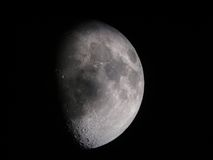 3/4 Moon Stock Photography