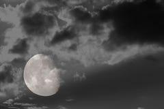 3 4 pełnia księżyca Zdjęcia Royalty Free