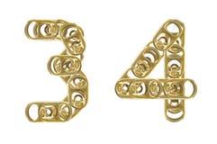 3 4 puszka liczb ciągnienia pierścionek Zdjęcia Stock
