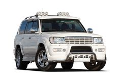 3/4 View Of SUV Stock Photography