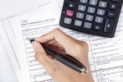 医疗保健概念3的费用 免版税库存图片