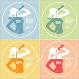 饮用水3 免版税库存图片