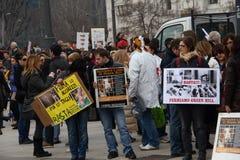 3 5 2011年antivivisection corteo米兰国民 免版税库存图片