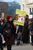 3 5 2011 antivivisection corteo Milano obywatelów Zdjęcia Royalty Free