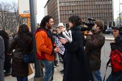 3 5 2011 antivivisection corteo Milano obywatelów Obrazy Royalty Free
