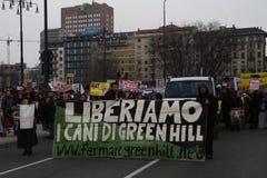 3 5 2011 antivivisection corteo Milano obywatelów Obraz Stock