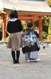 3 5 7 подавая идут shichi san Стоковое Изображение