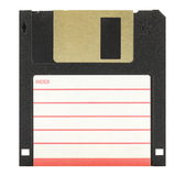 3.5'' inch floppy disk. Isolated in white Stock Photo