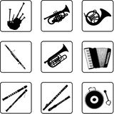音乐3台的仪器 免版税库存照片
