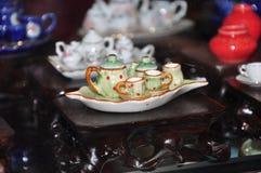 придает форму чашки чай 3 поддонников Стоковая Фотография