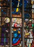 Цветное стекло - волхвы или 3 короля от востока Стоковые Изображения