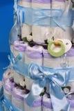 3个蛋糕尿布 库存图片