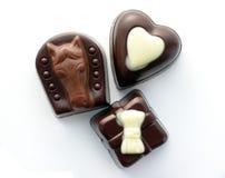 шоколад 3 конфет стоковые изображения rf