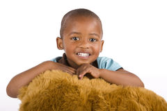 3 años adorables del negro o muchacho del afroamericano Fotografía de archivo libre de regalías