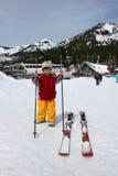 3 años listos para esquiar Foto de archivo libre de regalías