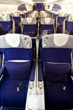 3 a380 klasa business Lufthansa Zdjęcia Royalty Free