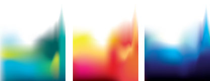3 abstract blur coloured backgrounds Royalty Free Stock Image