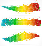 3 Abstract Colorful Backgrounds Royalty Free Stock Photography