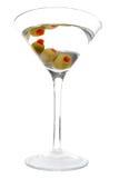 3 aceituna aislada Martini Imagen de archivo