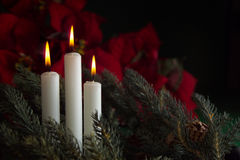 3 Advent Candles Royalty Free Stock Images