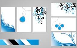 3 affärskort stock illustrationer
