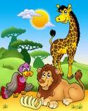 3 afrykańska zwierząt grupa różnorodna Zdjęcia Stock