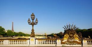 3 alexandre桥梁巴黎 图库摄影