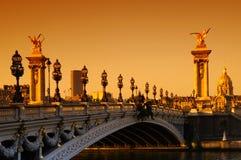 3 alexandre桥梁巴黎 库存图片
