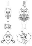 3 alfabetfärgläggningungar Fotografering för Bildbyråer