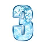 3 alphabet number three winter Απεικόνιση αποθεμάτων