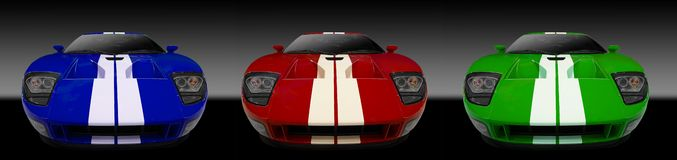 3 american sports cars Stock Images