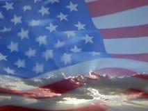 3 amerykańska flaga Obraz Royalty Free