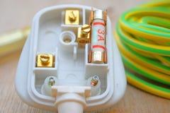 3 Ampere-Sicherung und Bolzen Lizenzfreie Stockbilder