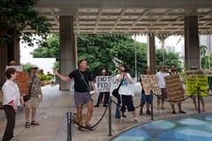 3 anti apec honolulu занимает протест Стоковые Фотографии RF