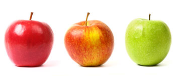 3 apples Royalty Free Stock Photos
