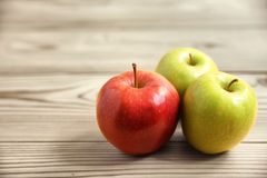 3 apples Stock Photos
